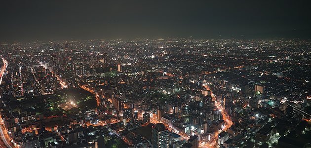 Lighted Cityscape